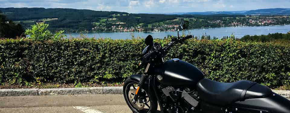 Riding A Harley Through The Alps
