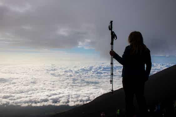 Climbing in Mt. Fuji