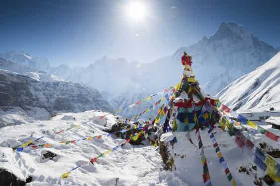Destinations_Nepal_Annapurna_Snow at base camp_iStock_000027332084_Large
