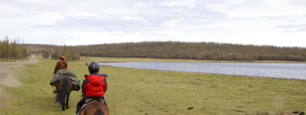 HORSE RIDING WITH KIDS IN MONGOLIA