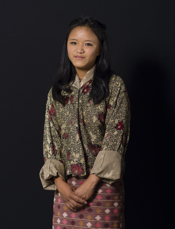 """What makes you happy? """"Running in the beautiful Bhutanese landscape."""" - Yeshi, 14, student"""