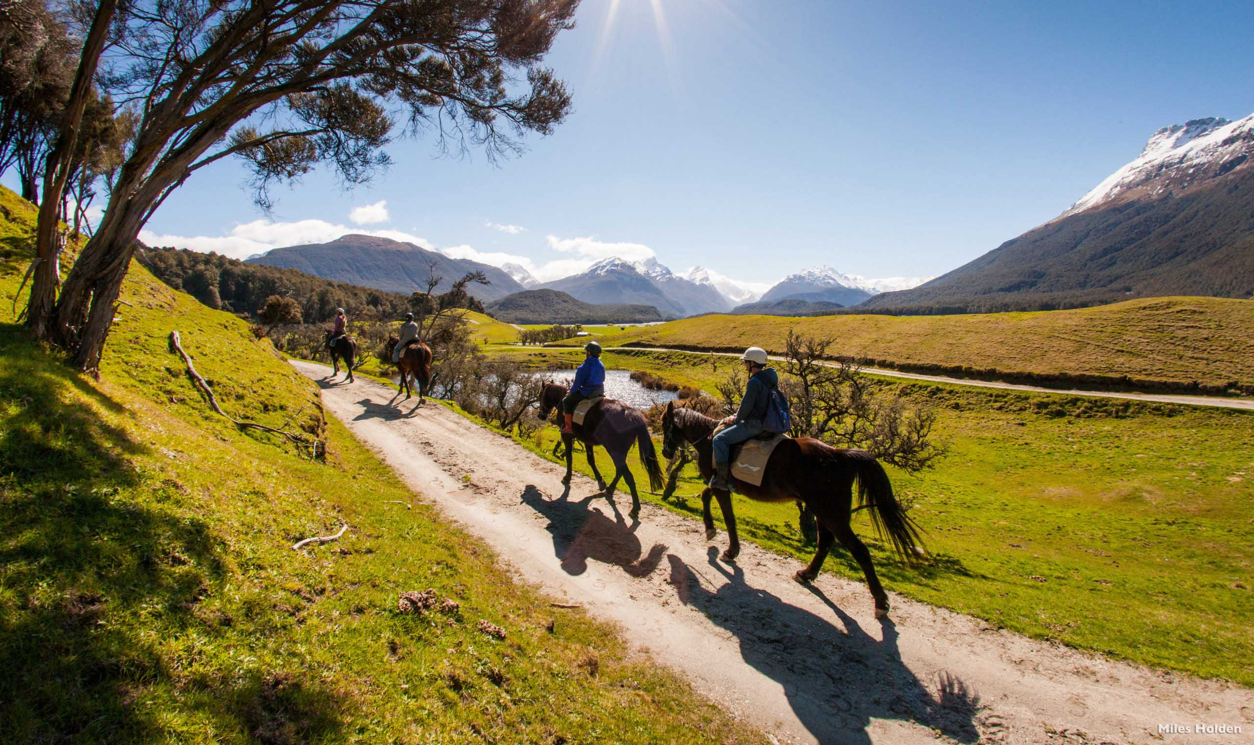 Horse-riding through Glenorchy