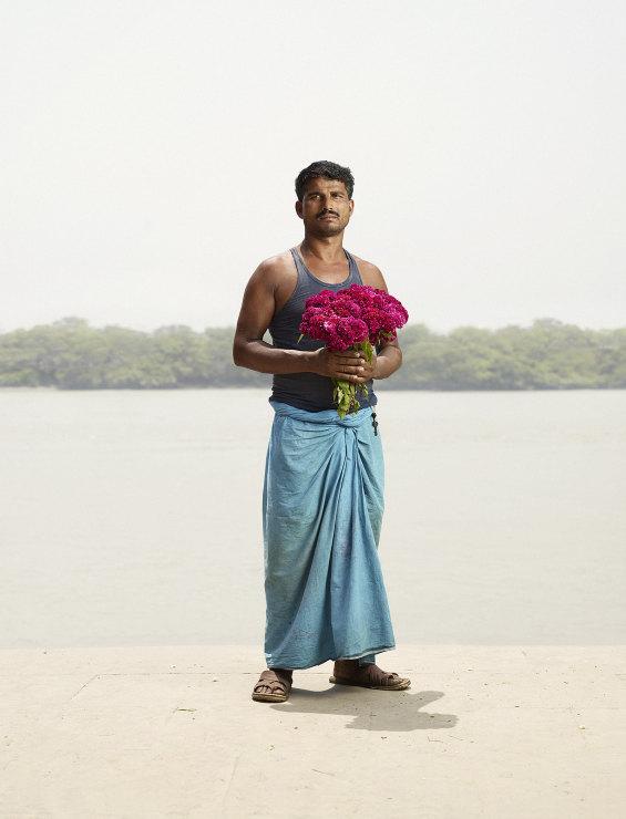 Ramdayal Yadav with roses