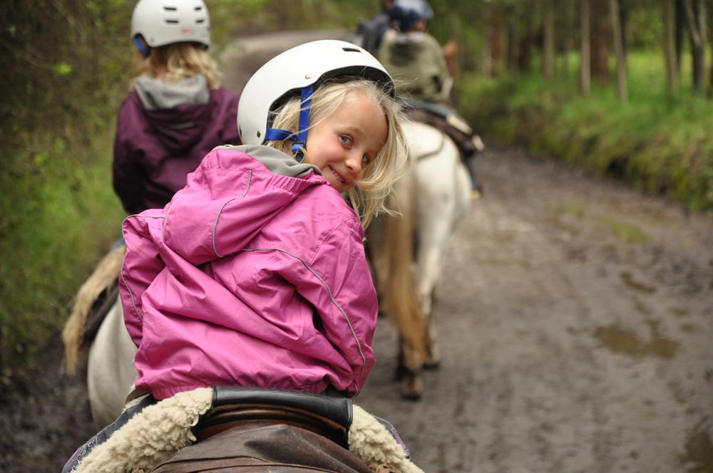 Girl horseriding