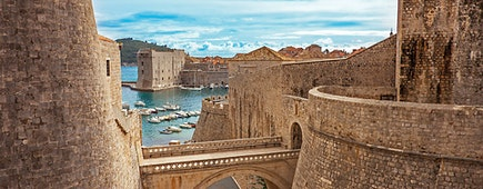 Old town and harbor of Dubrovnik, Croatia