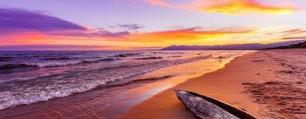 Lake Malawi sunset in Kande beach Africa