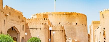 Nizwa Fort in Nizwa, Oman.