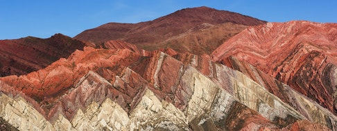 Hornocal Hill. The Quebrada de Humahuaca is a narrow mountain valley located in the province of Jujuy in northwest Argentina