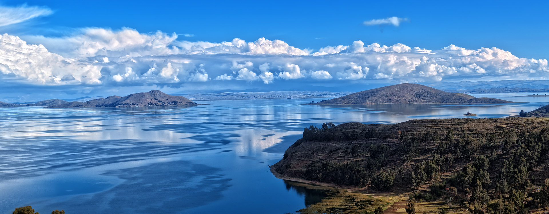 Titicaca lake view from Bolivia
