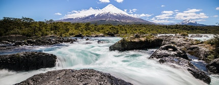 Osorno Volcano located in Puerto Montt within the Lake District in Chille