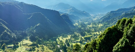 Landscape of Quindio River Valley, Salento, Quindio Department, Colombia