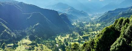 Landscape of Quindio River Valley, Salento, Quindio Department, Colombia