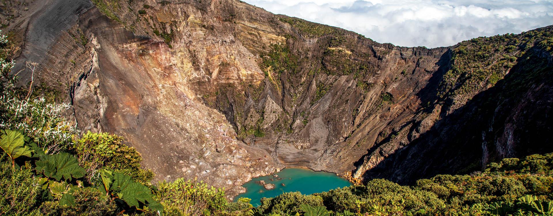 Volcano Irazu in Central Valley Costa Rica