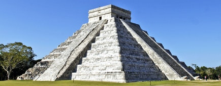 The main Ziggurat from several angles in Chichen Itza, Yucatan, Mexico