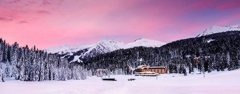 Boat hut on Braies Lake, Dolomite, Italy, Europe