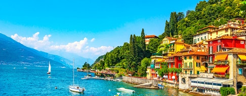 Varenna town in Como lake district. Italy, Europe.