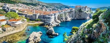 Aerial panoramic view, Dubrovnik