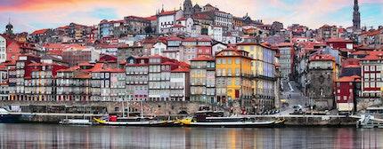 Porto, Portugal old town on the Douro River. Oporto panorama