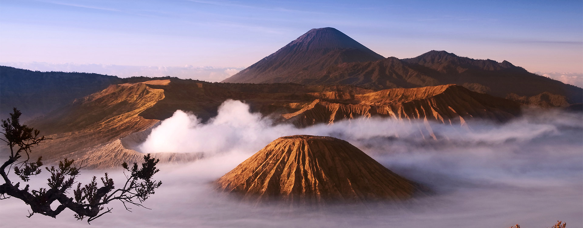 Mount Bromo volcanoes taken in Tengger Caldera, East Java, Indonesia