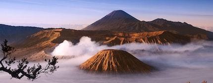 Mount Bromo volcanoes taken in Tengger Caldera, East Java, Indonesia