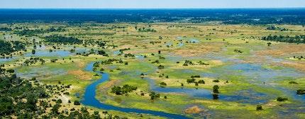Aerial view of Okavango Delta, Botswana