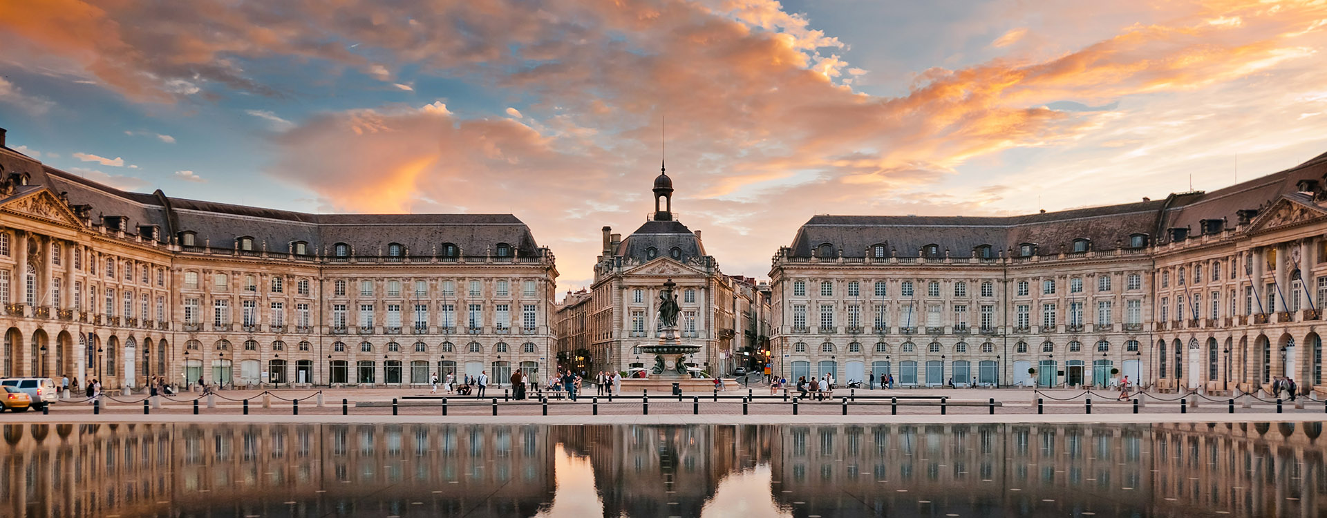 Place de la Bourse in Bordeaux, France
