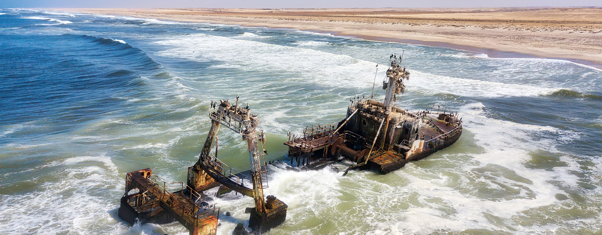 Ship Wreck along the Skeleton Coast in Western Namibia