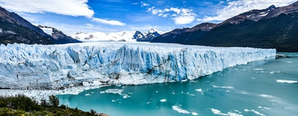 Views of the Perito Moreno Glacier in Patagonia, Argentina