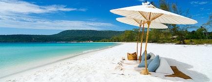 Cambodia, Koh Rong Island, white sand beaches