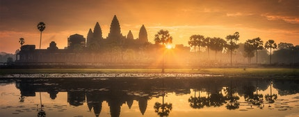 Cambodia, Siem Reap, Angkor Thom South Gate complex
