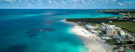 Shoal Bay Beach Anguilla Caribbean. Turquoise ocean and beautiful landscape with white sand