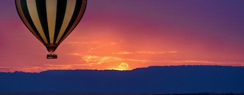 Hot air balloon safari flight in the magnificent setting of the Great Rift Valley in Kenya