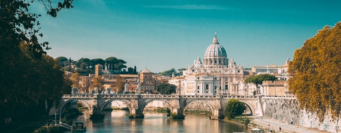 Rome, Italy. Papal Basilica Of St. Peter In The Vatican. Aelian Bridge
