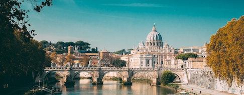Rome, Italy. Papal Basilica Of St. Peter In The Vatican. Aelian Bridge