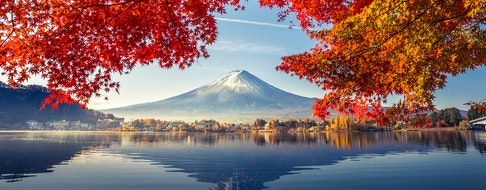 Japan, Mount Fuji, Autumn Season, Lake Kawaguchiko
