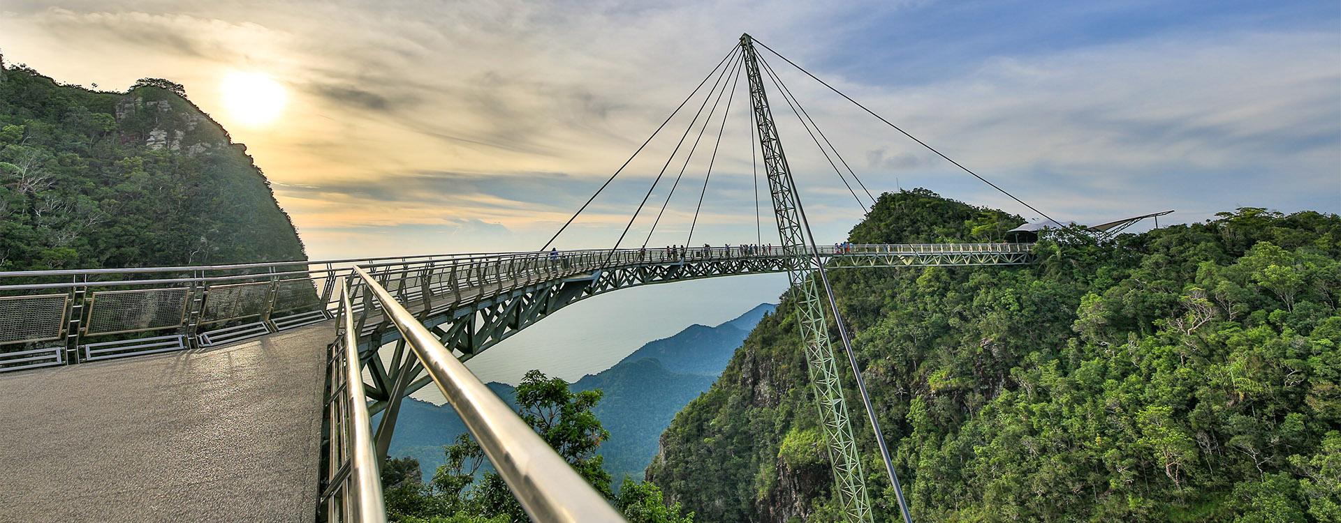 Skybridge over rainforest Langkawi Malaysia