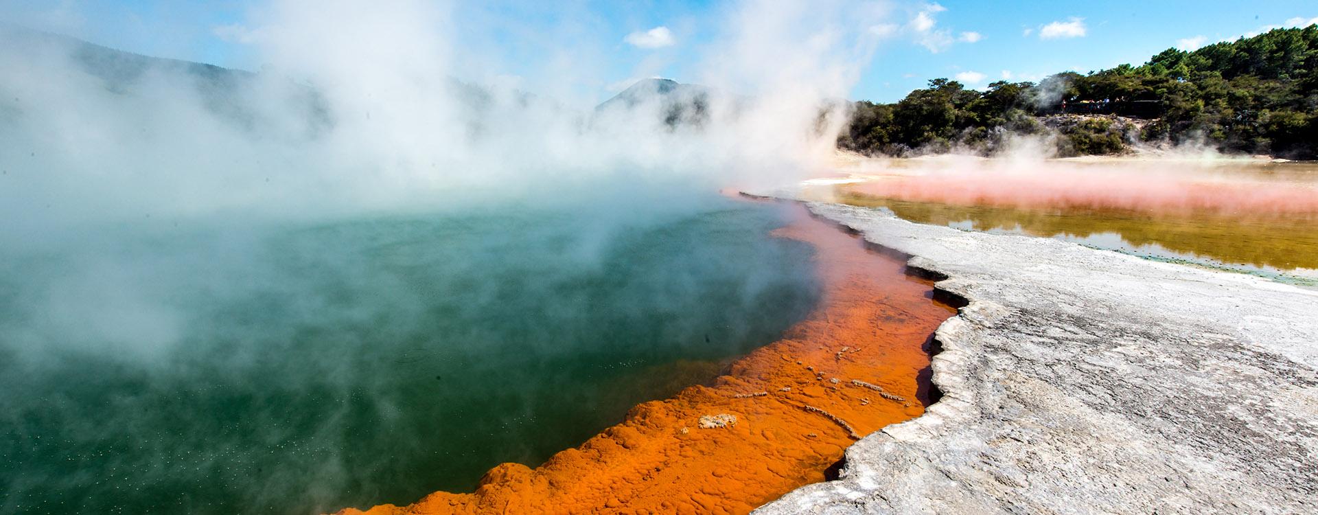 Wai o Tapu in New Zealand, the volcanic wonderland