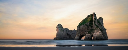Beautiful place in Wharariki Beach, New Zealand