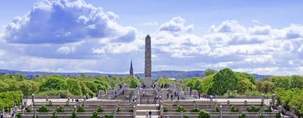 Statues in Vigeland park in Oslo, Norway.  80 acres and features 212 bronze and granite sculptures created by Gustav Vigeland