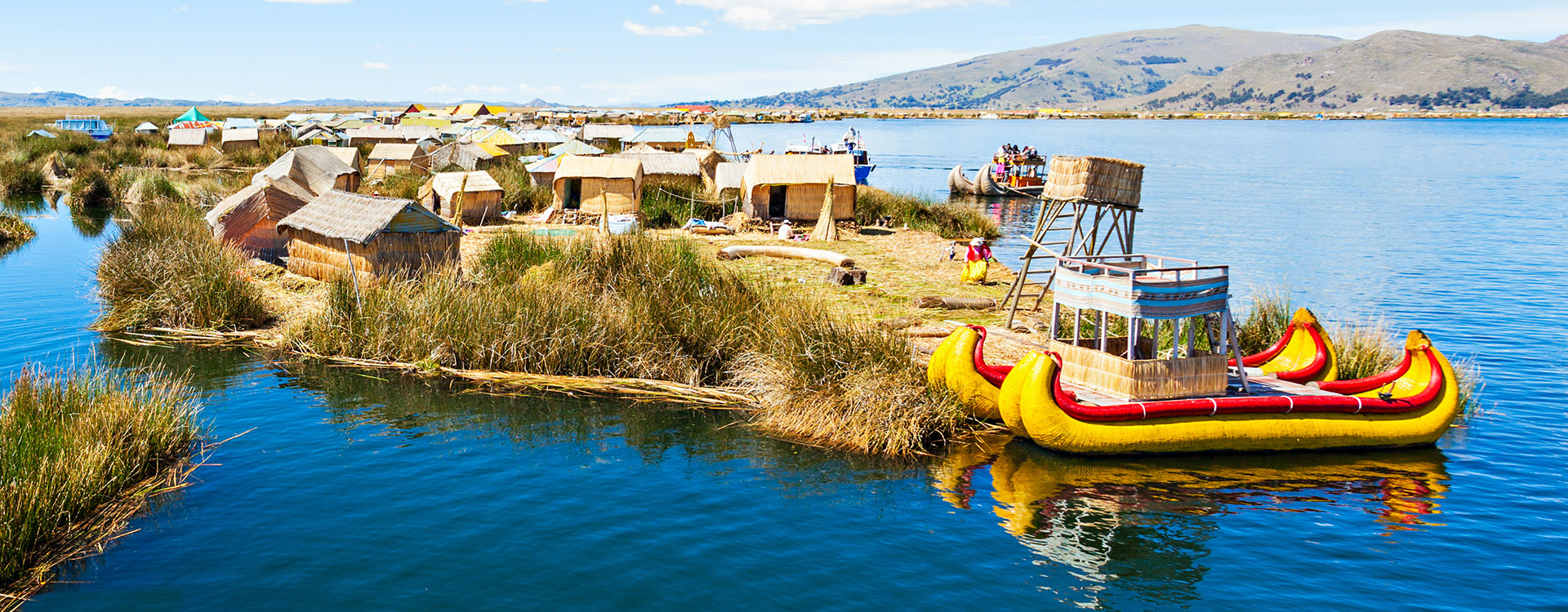 Lake Titicaca,South America, located on border of Peru and Bolivia