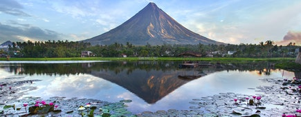Mayon volcano at early morning, Philippines