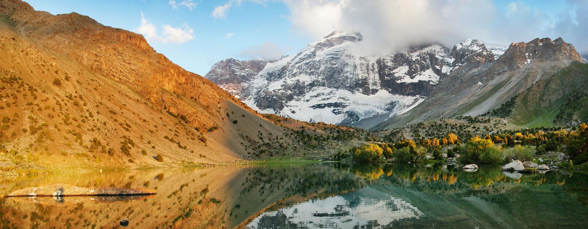 Lake in the Fan Mountains, Tajikistan