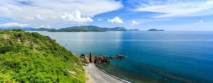 Nha Trang bay, Vietnam. North Of Nha Trang City. Taken From High Point
