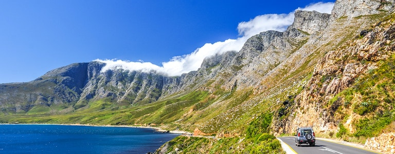 Beautiful mountain scenery along Route 44 in the Western Cape province of South Africa.