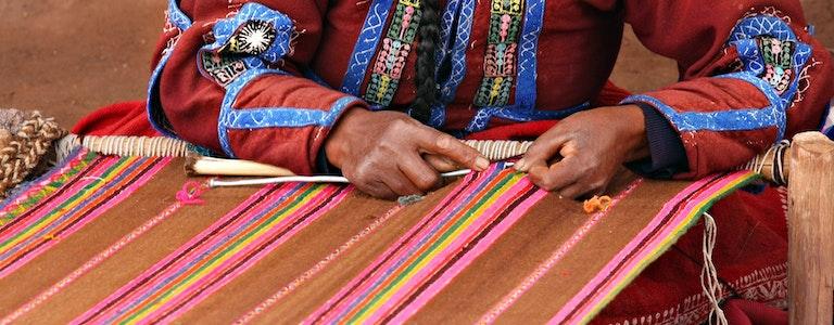 Woman at Market in Peru
