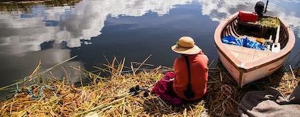 Eco trip in Uros island in Lake Titicaca, Peru