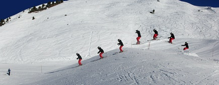 Skiers, Val Disere, France