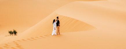 Young couple enjoying the dunes.