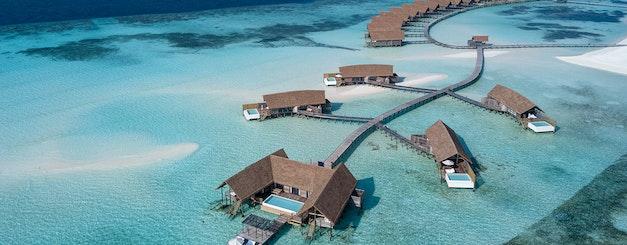 COMO Cocoa Island_Water Villa Aerial